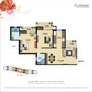 Paramount Golf Foreste 2 Bed- living/Dining +2 Toilet+kitchen+Balconie