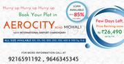 PLOTS IN AEROCITY Road MOHALI call @9216591192