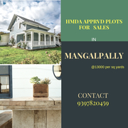 HMDA APPRVD PLOTS FOR SALES IN MANGALPALLY, HYD, INDIA.