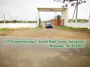 305 Sq Yards South,  West Corner Plot -Airport Road Facing venture